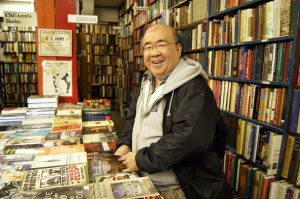 Me in a bookstore. Where else?