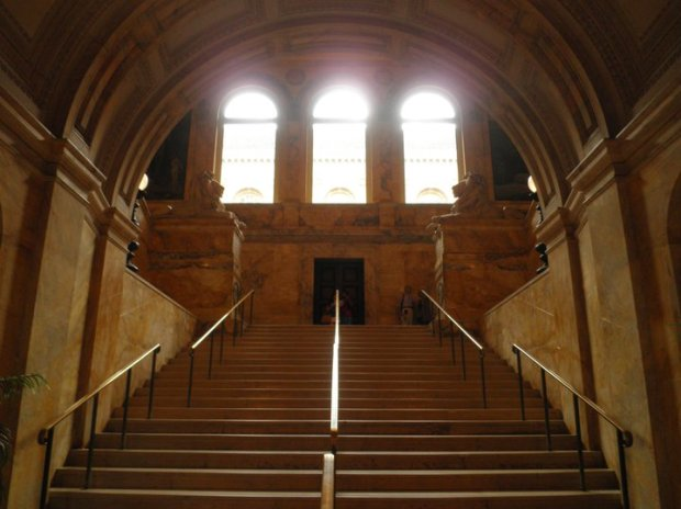 Boston Public Library, Central Branch, main stairwell (photo DY)