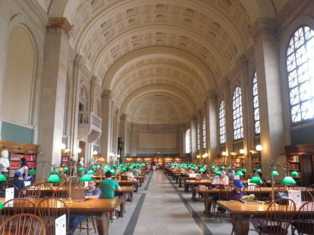 Bates Hall reading room, Boston Public Library, Central Branch (photo: DY, 2012)