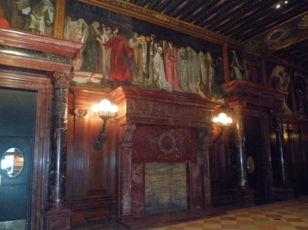The gorgeous Abbey Room, used for book readings and other events, 2nd floor. (Photo: DY, 2012)