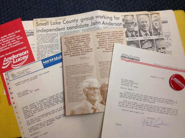 Mementos from the 1980 independent Presidential campaign of John B. Anderson