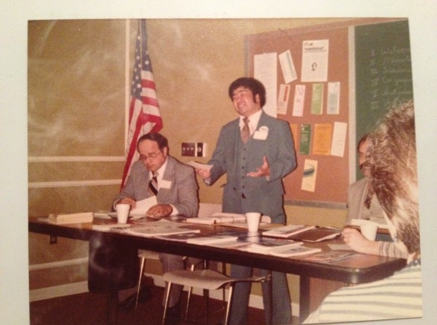 Yup, that's me, speaking at a 1980 presidential debate sponsored by the Porter County, Indiana chapter of the American Association of University Women, wearing my best polyester suit.