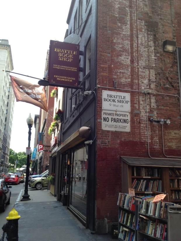 Brattle Book Shop, Boston, exterior (Photo: DY, 2014)
