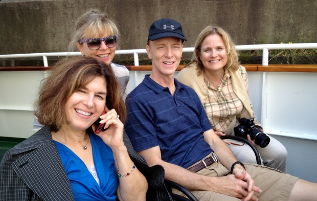Long-time friends Kathy, Rachelle, Don, and Sharon. (Photo: DY, 2014)