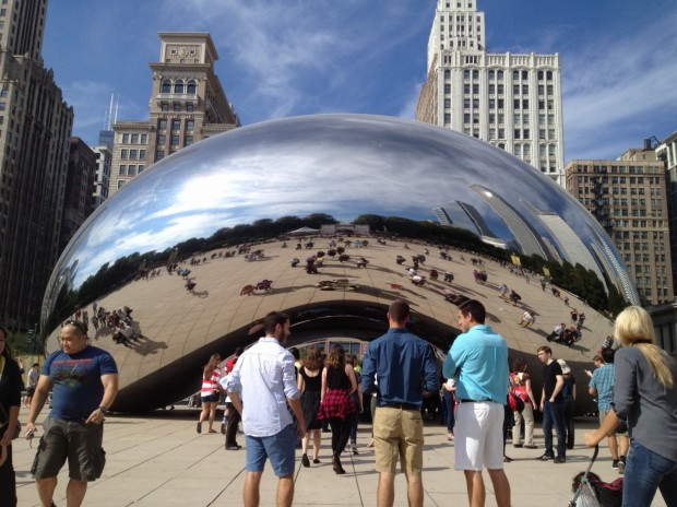 Bean sculpture, Millenium Park, Chicago (Photo: DY, 2014)