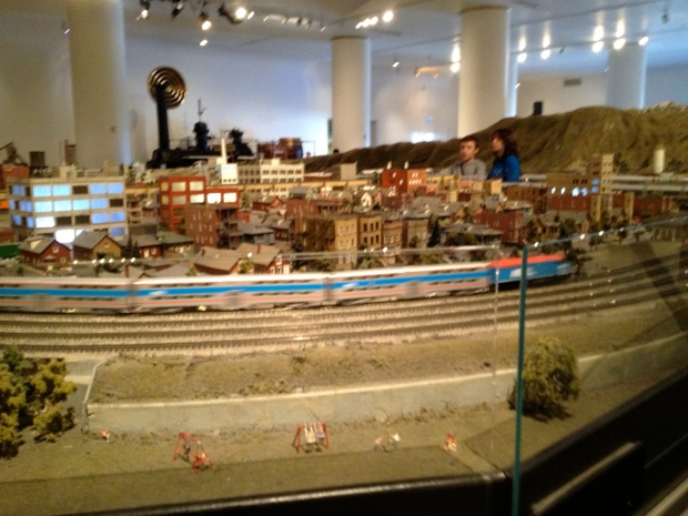 Model train exhibit, Museum of Science and Industry, Chicago (Photo: DY, 2014)