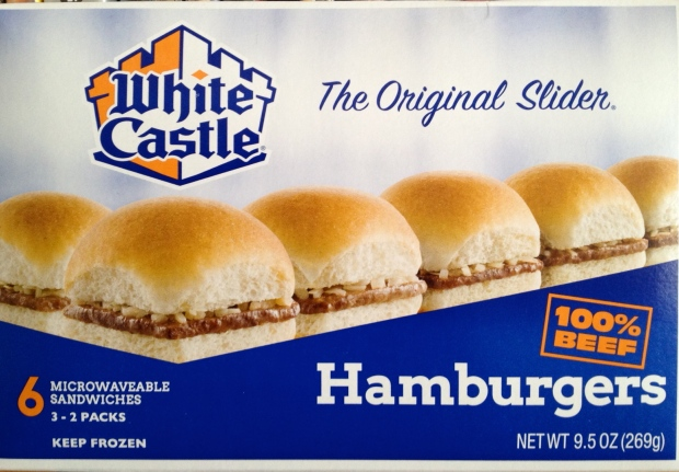 I would've shown a picture of the White Castles themselves, but I ate them all