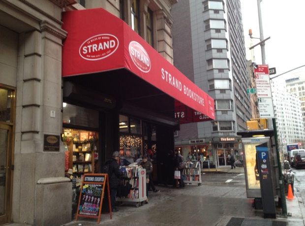 The Strand, my long-time bookstore mecca
