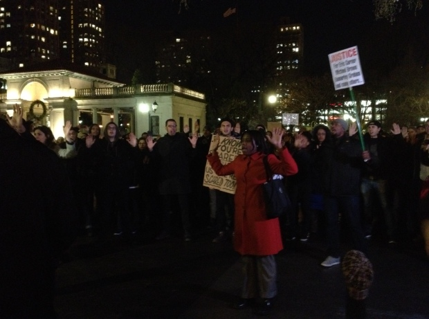 Protest at Union Square, early Wed evening
