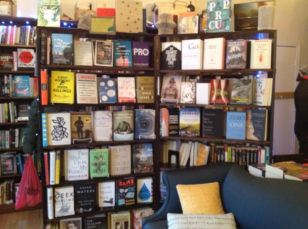The book collection is a curated selection of mainstream, less traditional, and quirky (photo: DY)