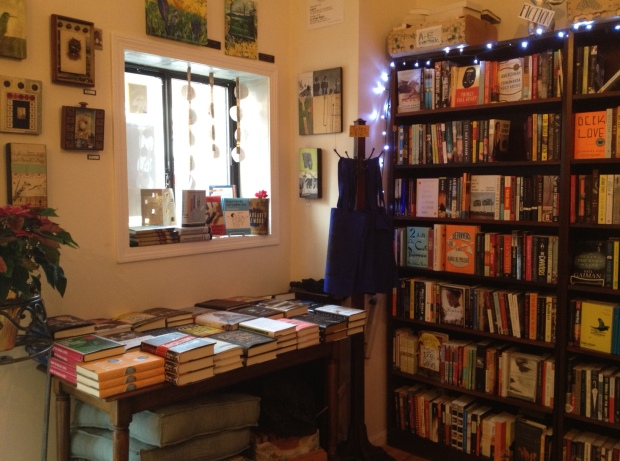 Inside Papercuts, the new indie bookstore in my Boston neighborhood of Jamaica Plain (photo: DY)