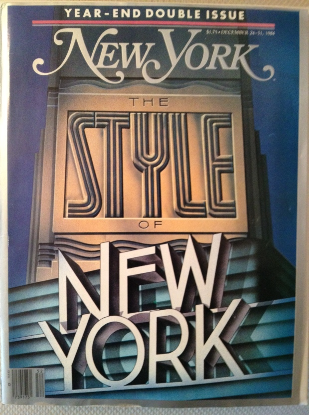 I saved this magazine cover  from Dec. 1984; it's displayed on a wall of my condo.