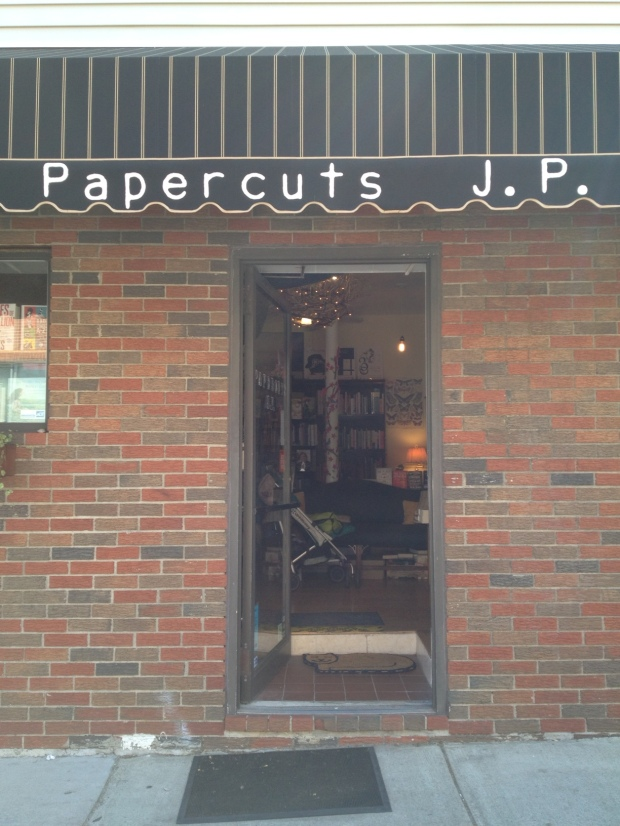 Papercuts J.P. bookstore, Jamaica Plain, Boston (photo: DY, June 2015)