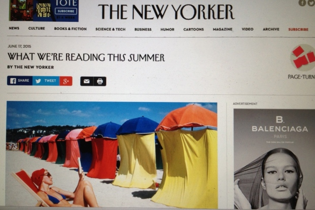 Wonderful caption to the Dennis Stock photo: The great promise of summer reading is the pleasure of total absorption""