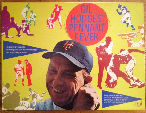 Box cover for RGI's Gil Hodges' Pennant Fever
