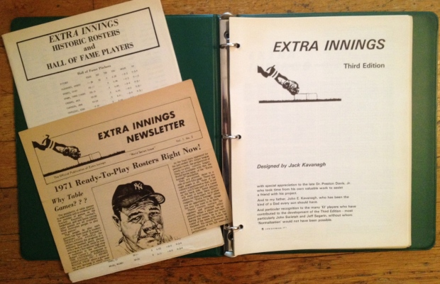 Game book & binder, player performance roster, and newsletter for Extra Innings