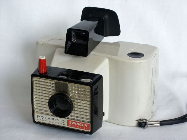 The Polaroid Swinger camera (photo: Wikipedia)