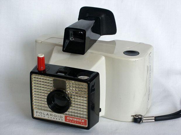 The Polaroid Swinger camera (photo: Wikipedia)