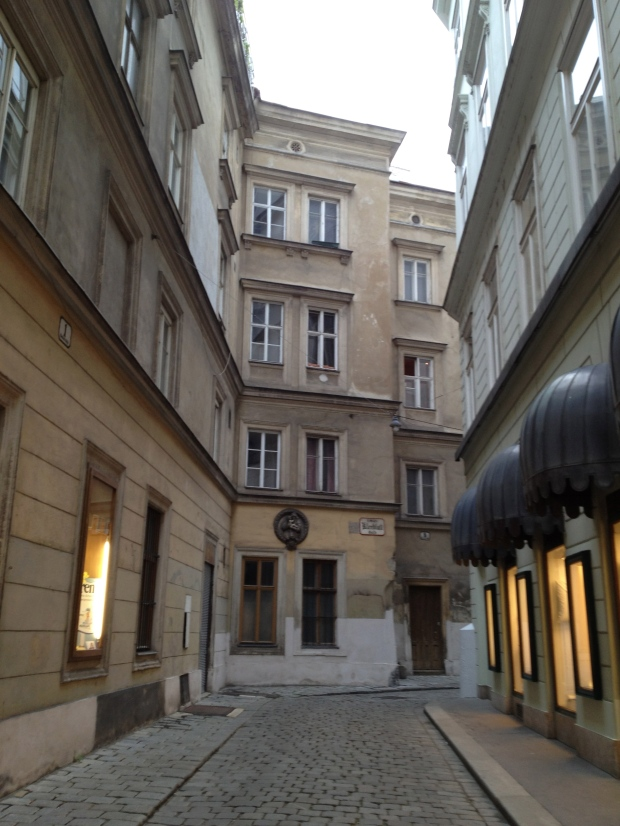 Vienna, Austria: I love turning a corner and finding an old city street (photo: DY, 2015)