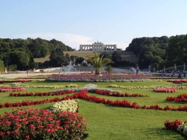 The gardens of Schoenbrunn Palace