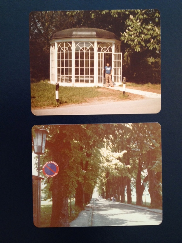 Top: The famous gazebo. Bottom: The road where the Von Trapp kids are up in the trees.