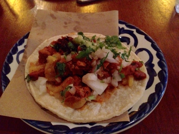 A truly gourmet taco from La Palapa, East Village, Manhattan (Photo: DY)