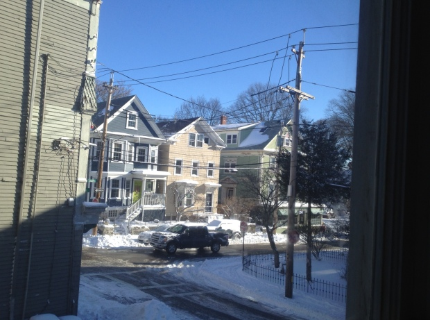 Sunday a.m. view from my building, Jamaica Plain, Boston