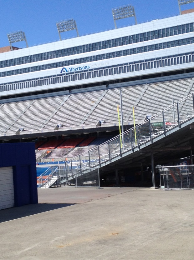 The blue gridiron (photo: DY)